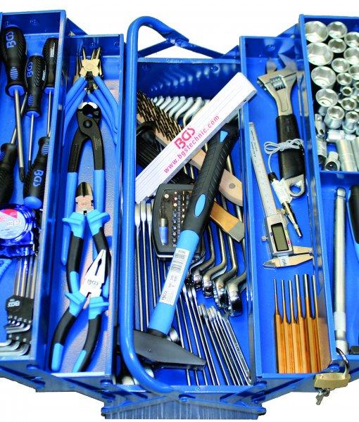 Gereedschapset 137dlg in metalen gereedschapskist
