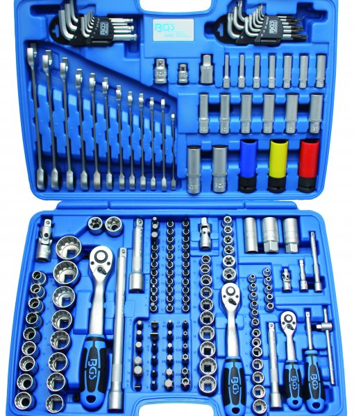 Dopsleutelset 1/4+3/8+1/2 Gear Lock 176dlg 4-32mm