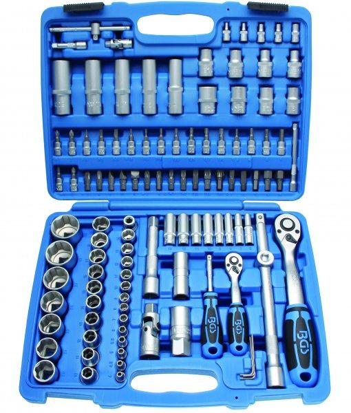 Dopsleutelset 1/4+1/2 Super Lock 108dlg 4-32mm