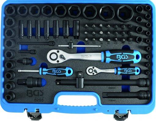 Kracht dopsleutelset 1/4+1/2 69dlg 4-32mm
