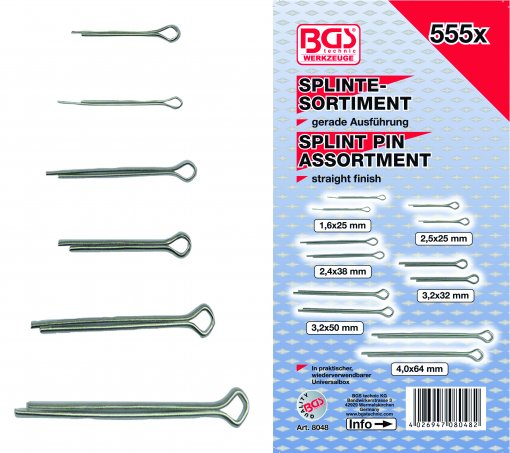 Assortiment splitpennen 555dlg 16 4mm