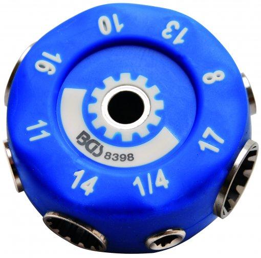 Multi dopsleutelwiel  8-17mm E 10-22 5/16-11/16 1/4 bits