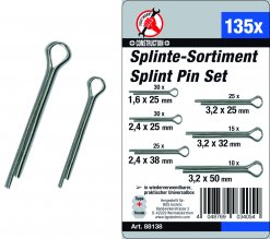 Assortiment splitpennen 1.6-32mm 135dlg