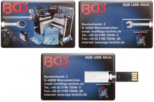BGS USB stick 8-GB als creditcard